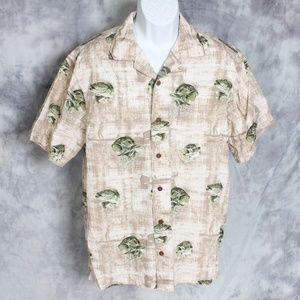 NWT Columbia short sleeve fish print shirt